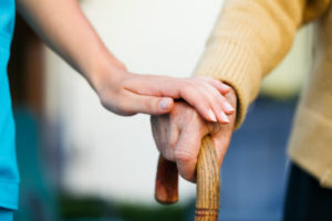 senior couple aging in place