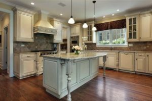 new kitchen design with beige cabinets