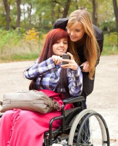 girl in wheelchair wilmington de