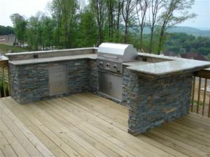 backyard kitchen patio deck