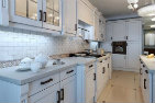 kitchen counters and cabinets