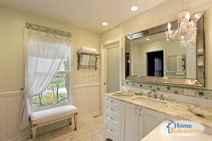 white bathroom remodel from Wilmington project