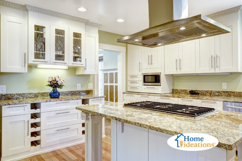new kitchen designed with island range